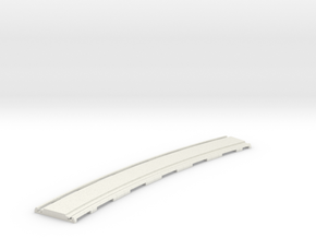 p-165stp-slim-curved-1r-tram-track in White Natural Versatile Plastic