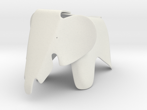 Eames Elephant Chair 1/12 scale in White Natural Versatile Plastic