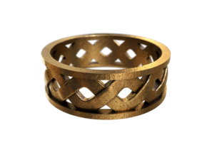 Knotwork Ring in Polished Bronze Steel: 10.5 / 62.75