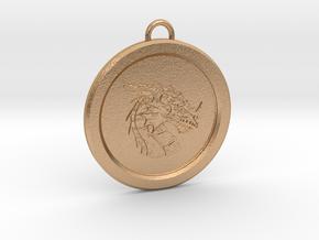 Pendragon Pendant in Natural Bronze