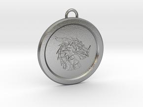 Pendragon Pendant in Natural Silver