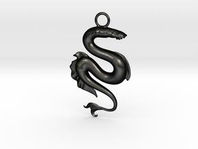 Lamprey Pendant in Matte Black Steel