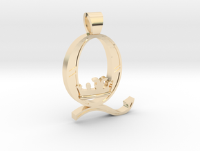 Queen Band [pendant] in 14k Gold Plated Brass