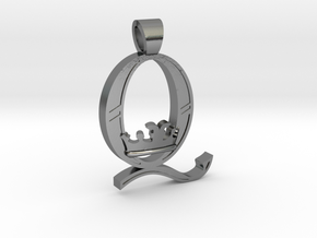 Queen Band [pendant] in Polished Silver