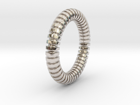 Patrick Circle - Ring in Rhodium Plated Brass: 5 / 49