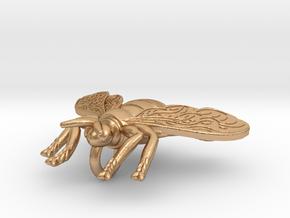 BEE Pendant in Natural Bronze