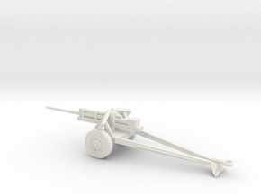 1/72 Scale 3in M5 on M6 Carriage Anti Tank Gun in White Natural Versatile Plastic