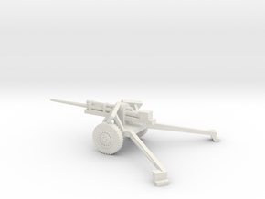 1/72 Scale 3in M5 on M6 Carriage Anti Tank Gun Dep in White Natural Versatile Plastic