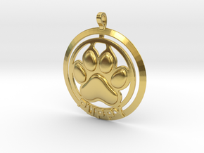 Puppy Tag in Polished Brass
