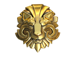 Dota 2 Medallion of Courage I in Polished Brass