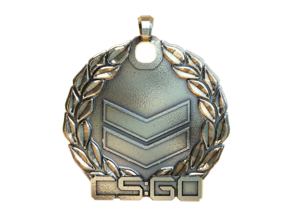 CS:GO Silver 2 Pendant in Polished Nickel Steel