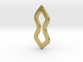 Geometric Necklace-49 in Natural Brass