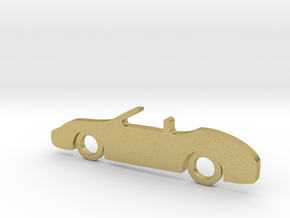 Classic Car Necklace-56 in Natural Brass