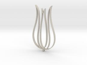 Tulip Necklace-57 in Natural Sandstone