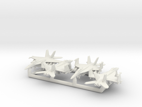 EA-18G w/Gear x4 (FUD) in White Natural Versatile Plastic: 1:350