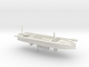TORPEDO BOAT in White Natural Versatile Plastic