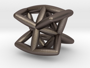 The Sprout Of Twist in Polished Bronzed-Silver Steel