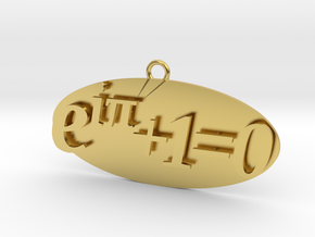 Euler identity Equation earring or pendant  in Polished Brass