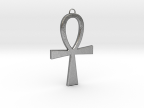 Ankh-2 in Natural Silver