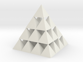 4x4 Pyramid Pyramid! in White Natural Versatile Plastic