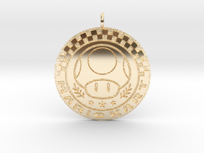 Mario Kart 1up in 14k Gold Plated Brass