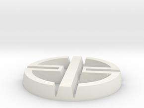 kawasaki ninja H2 logo in White Natural Versatile Plastic: Small