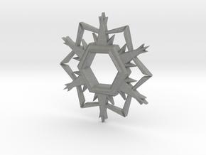 Alpha-Omega Snowflake in Gray Professional Plastic