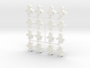 Custom Order, Sheriff, Large, 16-set in White Processed Versatile Plastic
