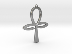 Ankh-3 in Natural Silver