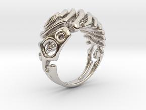 """Ring """"Wave"""" in Platinum"""