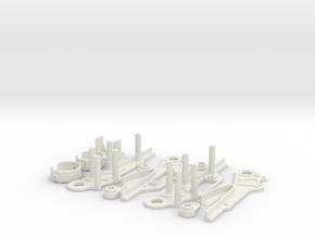 VTOL conversion kit for Mini Skywalker in White Natural Versatile Plastic