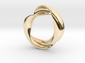 Mobius XIV in 14K Yellow Gold