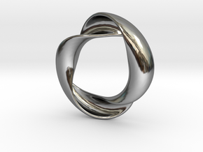Mobius XIV in Fine Detail Polished Silver