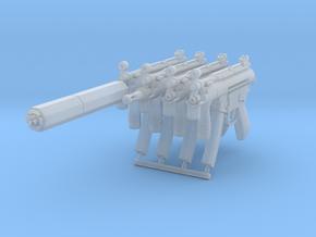 4x 1/24th MP5Kgun in Smoothest Fine Detail Plastic