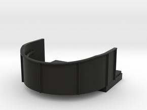 1/96 scale Single Gun Tube in Black Natural Versatile Plastic