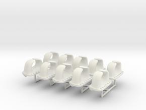 1/100 IJN Chock - Typical Fairlead Set x10 in White Natural Versatile Plastic