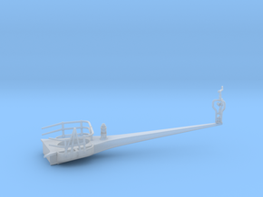 1/100 IJN Yamato Antenna Yard Arm Starboard in Smooth Fine Detail Plastic