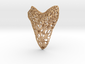 Shark Tooth Voronoi Pendant in Natural Bronze
