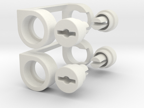 120-135 Film Converter in White Natural Versatile Plastic