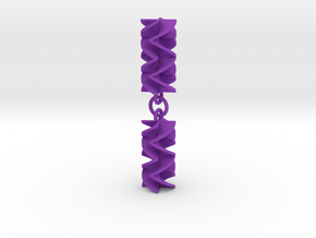 Sawtooth Rotini Earrings in Purple Processed Versatile Plastic