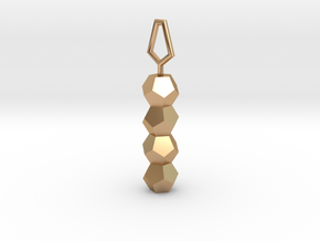 Dodecahedron DNA healing pendant in Polished Bronze