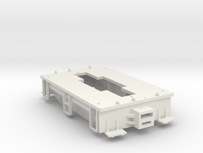 23 Ton GE Box Cab Frame Narrow Gauge On30 / On3  in White Natural Versatile Plastic