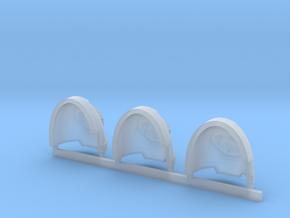 Vorpal Blades Gravus Shoulder Pads L in Smooth Fine Detail Plastic
