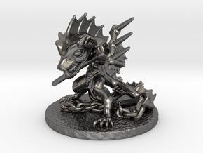 Aqua Warrior in Polished Nickel Steel