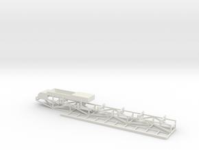 Tripper Car Belt Conveyor Feeder Head w/Catwalk in White Natural Versatile Plastic