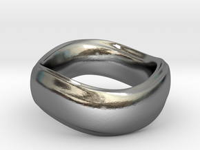Ima Wave Ring in Polished Silver: 7 / 54