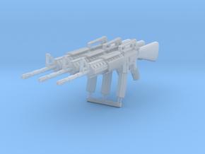 3x 1/24th M16A4gun in Smoothest Fine Detail Plastic