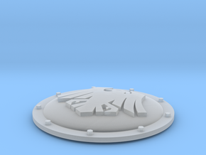 Imperial Mecha (M) heraldry shield space ravens 1 in Smooth Fine Detail Plastic