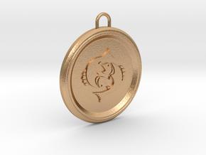 pisces-pendant in Natural Bronze