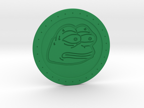 Pepe the Frog monkaS Meme Coaster  in Green Processed Versatile Plastic